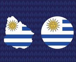 America Latine 2020 teams.America Latine soccer final.Uruguay map vector