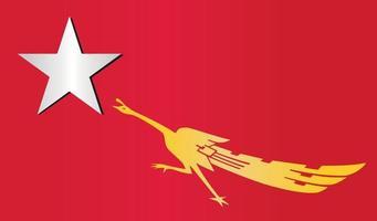 MYANMAR ACTIVIST FORCE DEMOCRACY NEW FLAG PROTEST PROPAGANDHA REVOLUTION 2021 SYMBOL ICON LOGO.eps vector