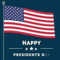 memorial day in the united states of america flag pole - happy presidents day poster banner background vector illustration