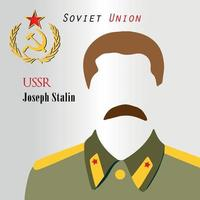 USSR Leader In World War 2 History Joseph Stalin Communist Propaganda Soviet Union Red Army Russia History Education.eps vector