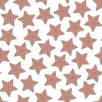 Seamless vector pattern with starfish on white background Perfect for wallpaper background wrapping paper or fabric and textile