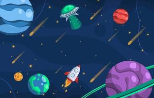 Space Background Scenery vector
