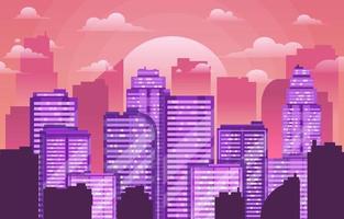 Skyscraper Cityscape Background vector