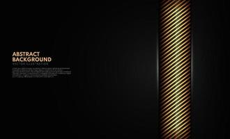 Abstract template gold yellow stripes diagonal lines on black background with space for your text. Vector illustration