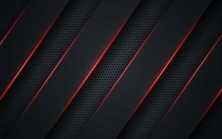 Abstract template technology style metallic red shiny color black layout modern tech design background. Modern futuristic concept. Vector illustration