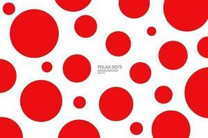 Patrón sin fisuras de puntos rojos abstractos sobre fondo blanco, vista en perspectiva. estampado de lunares para textil, moda, papel de álbum de recortes, papel tapiz. ilustración vectorial vector