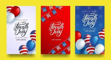 Independence day USA sale banner template .4th of July celebration poster template.fourth of july vector illustration .