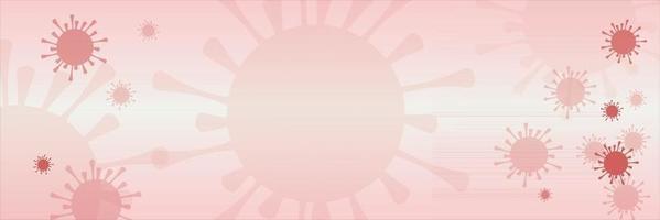 antecedentes del resumen del coronavirus rojo vector