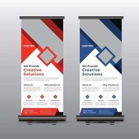 Creative Business Roll Up Banner vector