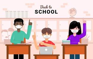 Student Back to School with Protocol vector