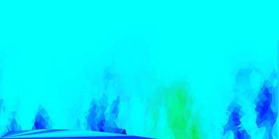 diseño de polígono degradado vector verde azul claro