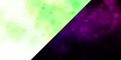 textura de vector con círculos estrellas discos de colores estrellas en textura de fondo degradado simple para cortinas de persianas de ventana