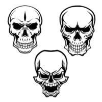 Skull head lineart vector