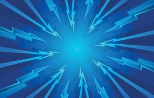 Abstract Thunder Blue Background vector
