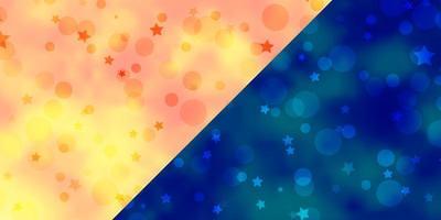 Fondo de vector con círculos estrellas ilustración colorida con puntos degradados textura de estrellas para cortinas de persianas de ventana