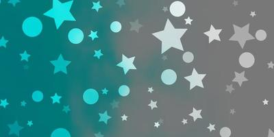 patrón de vector azul claro con círculos ilustración de estrellas con un conjunto de coloridas esferas abstractas textura de estrellas para cortinas de persianas de ventana