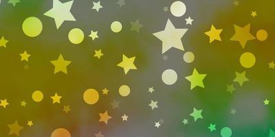 Fondo de vector multicolor claro con círculos estrellas ilustración abstracta con formas coloridas de círculos estrellas textura para cortinas de persianas de ventana
