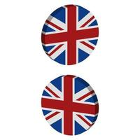 Great Britain Flag On Background vector