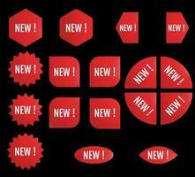 Black Friday New Sale Sticker Set Red promotion labels vector