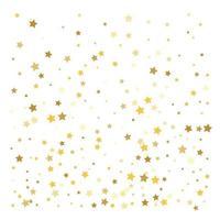 Gold stars Confetti celebration vector