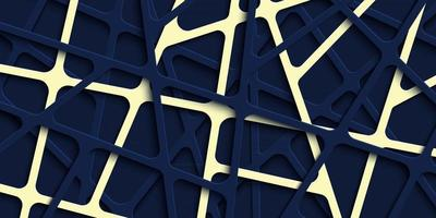 Abstract 3d papercut stripes background vector