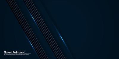 Abstract dark blue background with copy space vector