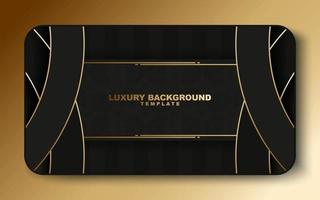 luxury gold abstract circle card template vector