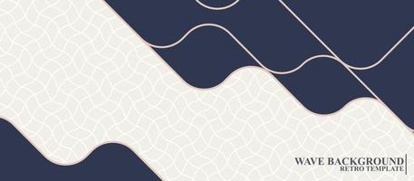 modern wave background in blue and white color vector