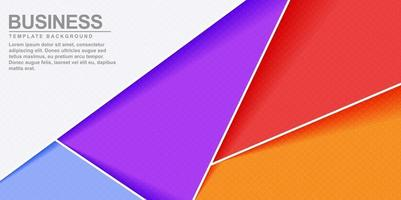 Abstract colorful geometric shape background banner design vector