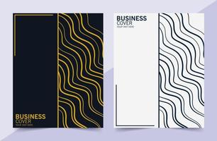 elegant abstract line style business cover vector