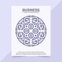 elegant ethnic pattern style cover vector