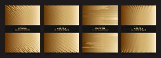 Abstract black and gold color minimal covers pattern design vector