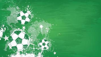Grunge abstract football background with world map and dust particle on blackboard texture . Flat design . Vector for international world championship tournament cup 2018 .