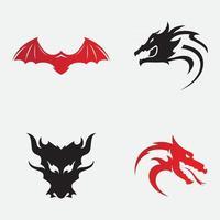 Dragon head logo vector icon