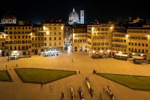 Santa Maria del Fiore in Florence at night from a rooftop photo