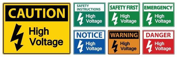 High voltage Sign Isolate On White Background,Vector Illustration EPS.10 vector