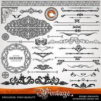 calligraphic design elements and page decoration exclusive, highest quality vector