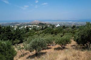 la vista sobre kos en grecia foto