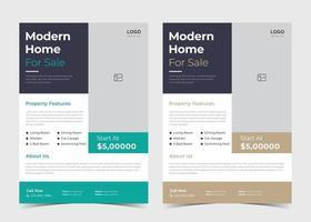 Real estate flyer design. Real estate Property flyer ideas. House Sale poster template. House for sale leaflet poster vector