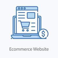 Ecommerce Website shopping vector