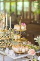 comida de la boda en la ceremonia de la boda foto
