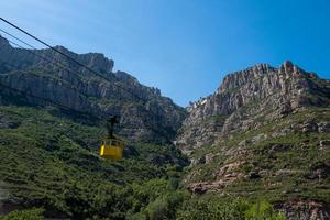 The cable car to the Montserrat Monastery photo