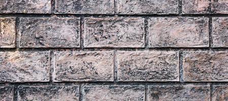 Brown old brick wall texture photo