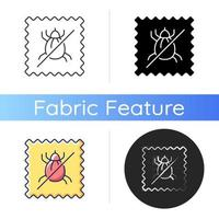 Dust mite proof textile quality icon vector