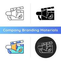 Branded promo video icon vector