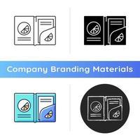 Branded paper folder icon vector