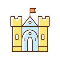 Medieval castle RGB color icon vector
