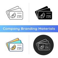 Branded business card icon vector