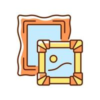 Paintings RGB color icon vector