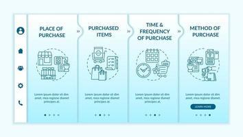 Consumer behavior patterns onboarding vector template